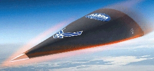 (Aug. 19) -The Hypersonic Test Vehicle-2, shown in an illustration. The Defense Department could soon draw conclusions about why an HTV-2 flight test in April resulted in a crash, a senior-level official said (U.S. Defense Advanced Research Projects Agency/Aviation Week).
