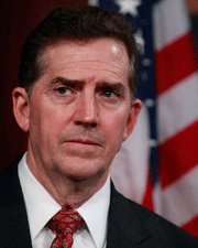 "(Sep. 17) -U.S. Senator Jim DeMint (R-S.C.), shown last year, yesterday successfully proposed an amendment to the ""New START"" nuclear arms control treaty ratification measure that would seek additional protection from ballistic missile attack. The Senate Foreign Relations Committee approved the amended ratification text (Mark Wilson/Getty Images)."
