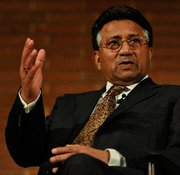 (Nov. 15) -Former Pakistani President Pervez Musharraf, shown in September, in an interview said Pakistan's government established the nuclear smuggling network linked to a former top Pakistani nuclear scientist (Carl Court/Getty Images).