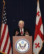 (Nov. 23) -U.S. Senator Richard Lugar (R-Ind.), shown in 2008, recently led a U.S. delegation to study biosecurity measures at laboratories in several African nations. The United States intends to focus on preventing terrorist acquisition of disease agents from Africa, a Pentagon official said yesterday (Vano Shlamov/Getty Images).