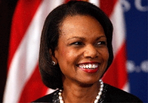 (Dec. 8) -Former U.S. Secretary of State Condoleezza Rice, shown in October, in a commentary called on the Senate to approve the New START nuclear arms control treaty with Russia (Chip Somodevilla/Getty Images).