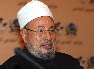 (Mar. 17) -Egyptian cleric Yusuf al-Qaradawi, shown in 2008, was reported in 2009 to have touted nuclear weapons as potentially valuable assets to Muslim nations (Karim Jaafar/Getty Images).