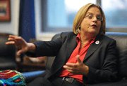 (Apr. 29) -U.S. House Foreign Affairs Committee Chairwoman Ileana Ros-Lehtinen (R-Fla.), shown in December, sponsored legislation that embraced numerous bipartisan proposals for bolstering the nation's nonproliferation policies. Her panel approved the bill earlier this month (Mandel Ngan/Getty Images).