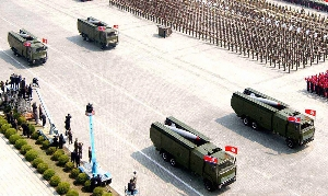 (May. 17) -A North Korean missile unit, shown on display at a 2007 military parade in Pyongyang. North Korea has persisted in attempting to export ballistic missiles, missile components and relevant technologies, analysts said in a report submitted last week to the U.N. Security Council (Getty Images).