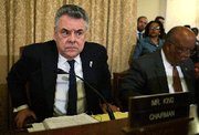 (Jun. 24) -U.S. House Homeland Security Committee Chairman Peter King (R-N.Y.), left, shown in March. King and another panel member are co-sponsors of a bill intended to strengthen federal efforts to counter biological terrorism and other WMD threats (Alex Wong/Getty Images).
