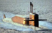 (Aug. 9) -A Russian Delta 4 ballistic-missile submarine, shown in 1994. Russia tested in May a next-generation missile intended for deployment on Delta 4 submarines, the nation's Makeyev Design Bureau confirmed (U.S. Defense Department photo).