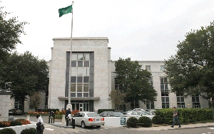 (Oct. 13) -The Embassy of Saudi Arabia in Washington, shown on Tuesday. Obama administration allegations that Iran supported a plot to kill Saudi Arabia's ambassador to the United States could undermine efforts to peacefully resolve a standoff over Tehran's nuclear program, according to experts (AP Photo/Jacquelyn Martin).