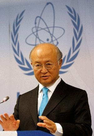 "(Nov. 9) -International Atomic Energy Agency Director General Yukiya Amano, shown in September, on Tuesday released an assessment expressing ""serious concerns"" that Iran is secretly moving to establish a nuclear-weapon capability (AP Photo/Ronald Zak)."