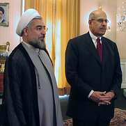 IAEA Director General ElBaradei in Tehran with Dr. Rohani, Secretary of Iran's Supreme National Security.
