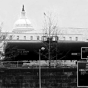 A tanker car with hazardous chlorine gas passes four blocks from the U.S. Capitol. Inset shows hazard warning enlarged.