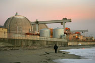 Evening sets on the San Onofre atomic power plant in northern San Diego County, south of San Clemente, Calif., in 2004. Senator Barbara Boxer (D-Calif.) is threatening to sue the U.S. Nuclear Regulatory Commission over the withholding of information regarding the now-shuttered facility.