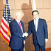 Japanese Defense Minister Yasukazu Hamada & US Defense Secretary Robert Gates in Singapore,
