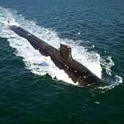 Nuclear-powered submarine, Jimmy Carter, along the coast of Connecticut, February 2005