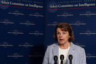 Senator Dianne Feinstein (D-Calif.) speaks to the media after meeting with members of the intelligence community in 2013. Feinstein asked Obama administration officials on Wednesday to come up soon with options for reducing the cost of constructing a facility to convert bomb-grade plutonium into nuclear fuel.
