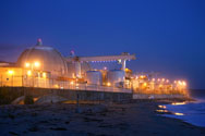 Evening sets on the San Onofre atomic power plant in northern San Diego County, Calif. A group of U.S. Senators is asking the Nuclear Regulatory to not exempt the now-shuttered plant -- and others like it -- from emergency planning regulations.