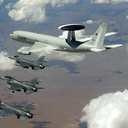American and Luxembourgian aircraft during a 2003 NATO air exercise