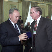 Kazakhstan President Nazarbayev and Co-Chairman Sam Nunn