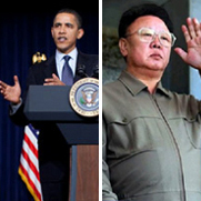 President Barack Obama and President Kim Jong II