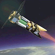 Artist's conception of space-based laser