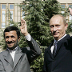President Putin meeting with President Mahmoud Ahmadinejad of Iran in Tehran, 2007.