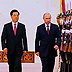 Russian President Putin with Chinese President Hu Jintao alongside the June 2012 SCO Summit