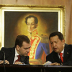 Presidents Medvedev and Chávez in Caracas, November 2008.