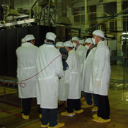NTI Board Members observe highly enriched uranium blend-down in